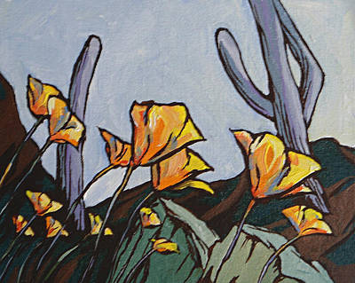 Painting - Poppies by Sandy Tracey