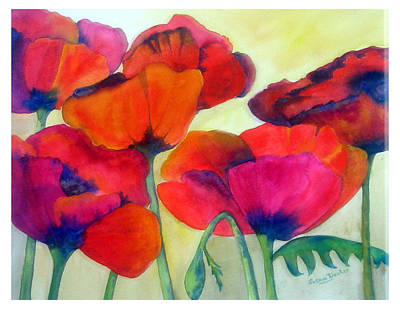 Painting - Poppies by Susan Duxter