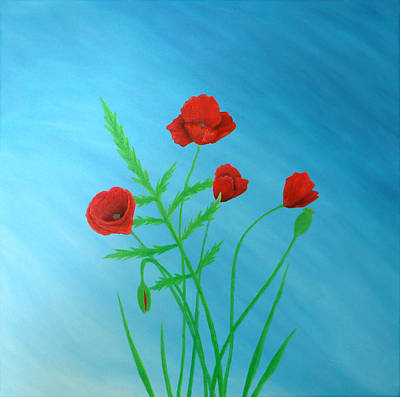 Fruehling Painting - Poppies by Sven Fischer