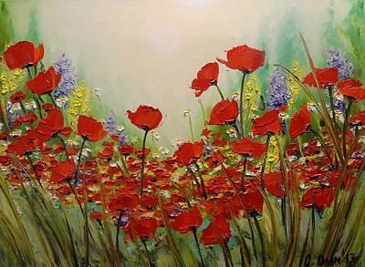 Poppies Art Print by Svetla Dimitrova