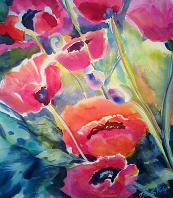 Poppies That Dance Original  Print by Therese Fowler-Bailey