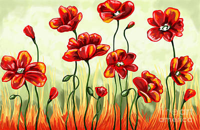 Painting - Poppies by Tim Gilliland