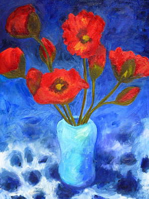 Poppies Art Print by Valerie Lynch