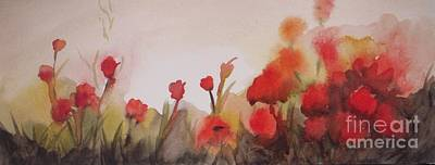 Poppies Field Painting - Poppies by Vesna Antic