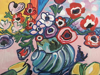 Painting - Poppies With Anemones by Nikki Dalton