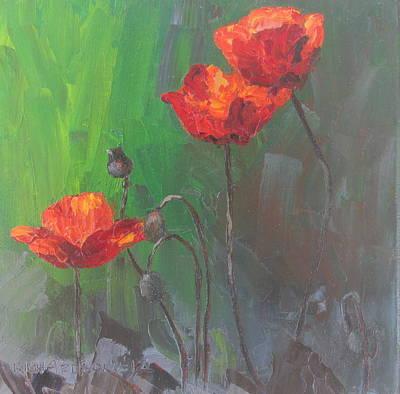Poppies3 Art Print by Susan Richardson