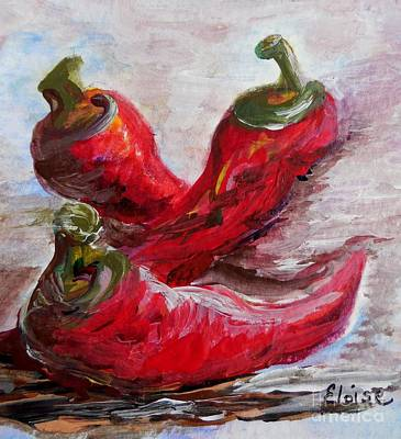 Mexican Painting - Poppin' Peppers by Eloise Schneider