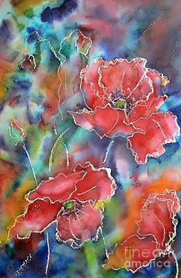 Painting - Poppy Abstract by Kathleen Pio