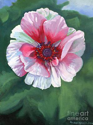 Wall Art - Painting - Poppy by Arlene Kelley