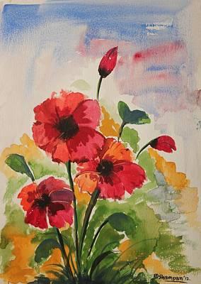 Kasana Painting - Poppy Blossom 2 by Shakhenabat Kasana