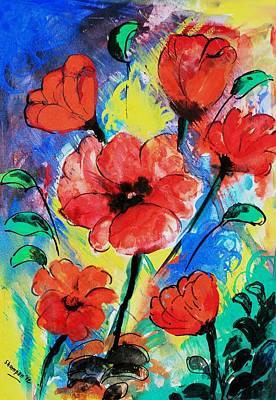 Poppy Blossom Art Print by Shakhenabat Kasana