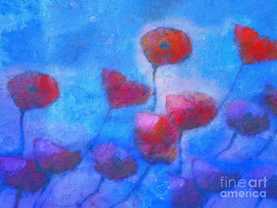 Poppies Art Painting - Poppy Blues by Lutz Baar