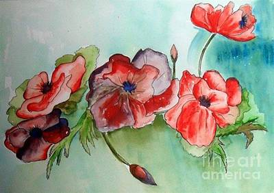 Poppy Bouquet Art Print