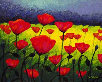 Poppy Corner IIi Original by John  Nolan