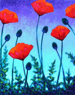 Poppy Corner Art Print by John  Nolan
