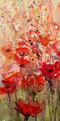 Painting - Poppy Crop by Sandra Strohschein