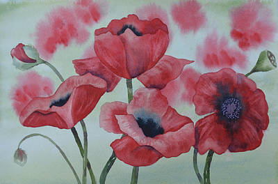 Poppy Dance Art Print