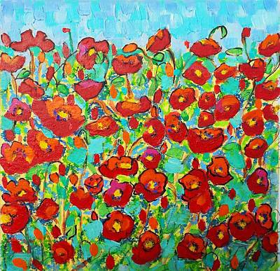 Daffodils Painting - Poppy Dance by Susi Franco