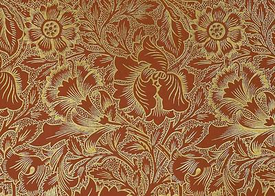 Art Nouveau Mixed Media - Poppy Design by William Morris