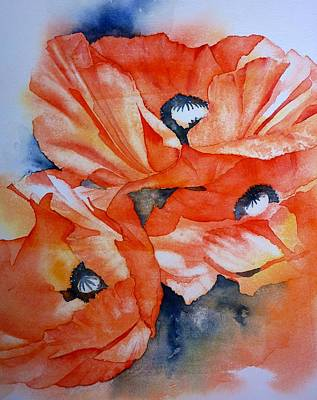 Poppy-faces Art Print by Thomas Habermann