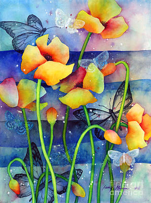 Orange Poppy Painting - Poppy Field by Hailey E Herrera