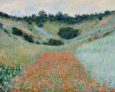 Poppies Field Painting - Poppy Field In A Hollow Near Giverny by Claude Monet