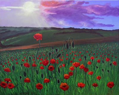 Poppy Field Art Print by Janet Greer Sammons