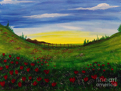Painting - Poppy Field by Kami Catherman