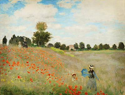 Celestial Painting - Poppy Field  Near Argenteuil by Celestial Images