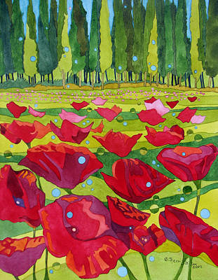 Painting - Poppy Fields by Sherri Bails