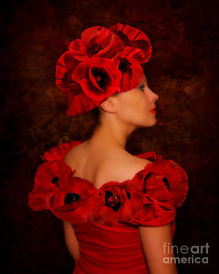 Photograph - Poppy Flower Hat by Olga Hamilton