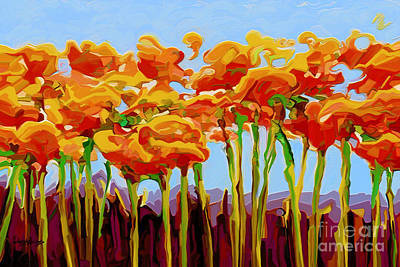 Painting - Poppy Flutter 2 by Dorinda K Skains