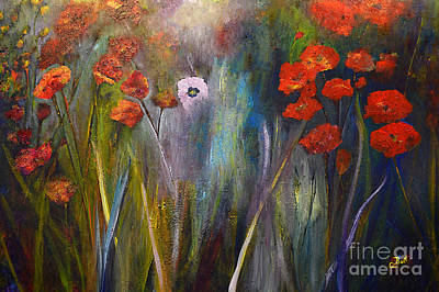Painting - Poppy Garden by Claire Bull