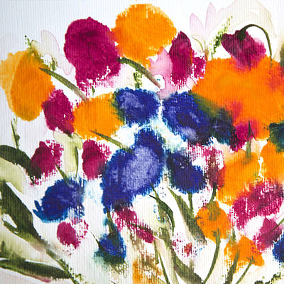 Art Print featuring the painting Poppy Garden by Linde Townsend