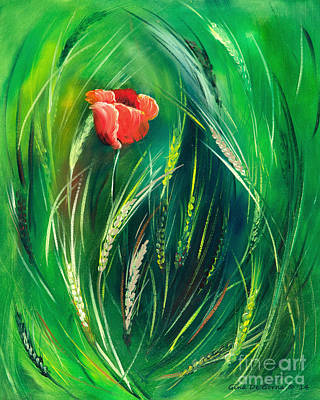Painting - Poppy by Gina De Gorna