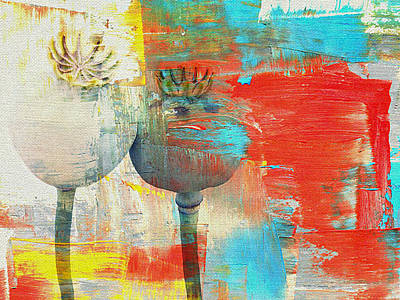 Flower Still Life Mixed Media - Poppy by Heike Hultsch