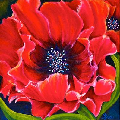 Flower Painting - Poppy Love 2 by Debra Bucci