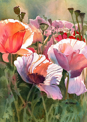 Wisconsin Artist Painting - Poppy Madness by Kris Parins