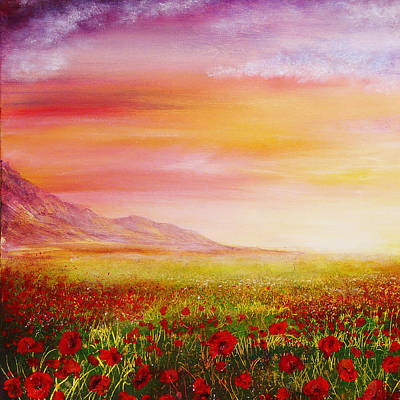 Bright Painting - Poppy Meadow by Ann Marie Bone