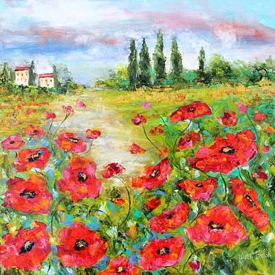 Landsape Painting - Poppy Paradise by Karen Tarlton