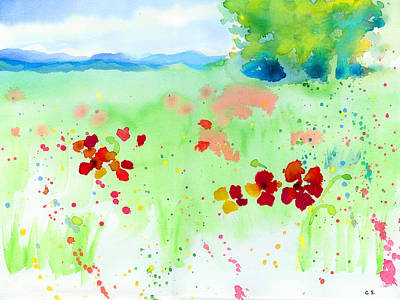 Painting - Poppy Passion by C Sitton