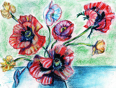 Various Mixed Media - Poppy Power by Madeline Moore