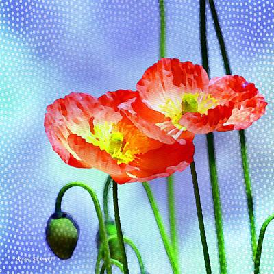 Flower Gardens Photograph - Poppy Series - Garden Views by Moon Stumpp