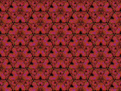 Digital Art - Poppy Sierpinski Triangle Fractal by Judi Suni Hall