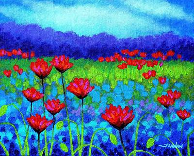 Homage Painting - Poppy Study by John  Nolan
