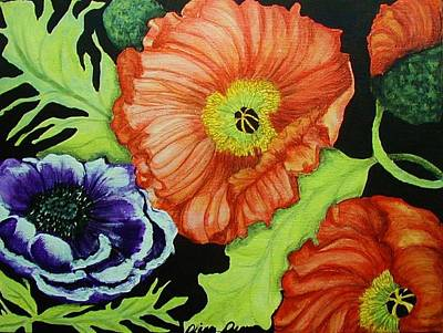 Poppy Surprise Art Print by Diana Dearen