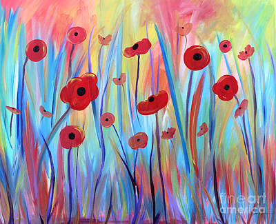 Painting - Poppy Symphony by Stacey Zimmerman