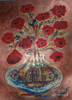Painting - Poppys by Richard W Linford