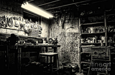 Childhood Home Photograph - Pop's Workshop by HD Connelly