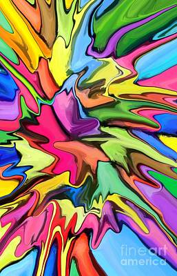 Colorful Abstract Digital Art - Popsicle by Chris Butler